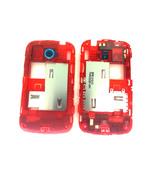 HTC A320e Desire C Polar White Housing Pre-Assy, EU/ 900, Red, silver camera ring, GOF U, 74H02228-00M (оригинал)