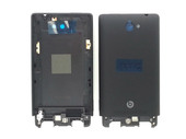 HTC A620e 8S (Rio) Domino Cover Pre-Assy, Unibody, Black, Painting, RIO U, 74H02346-03M (оригинал)