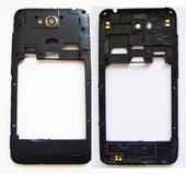 HTC D616H Desire 616 dual sim Средняя часть корпуса Dark Gray (со стеклом камеры), 74H02761-01M (оригинал)