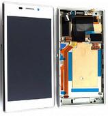 Sony D2303/ D2305/ D2306 Сенсор с дисплеем и передней панелью, White, 78P7120003N (оригинал)