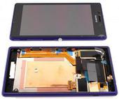 Sony D2303/ D2305/ D2306 Сенсор с дисплеем и передней панелью, Purple, 78P7120005N (оригинал)