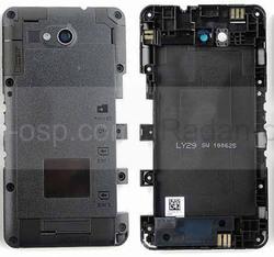 Средняя часть корпуса со стеклом камеры Sony Xperia E4g E2003, 78P8640002N (оригинал), radan-osp.com - оригинальные комплектующие, фото