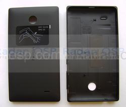 Крышка Nokia X/ X+ задняя (батареи), черная, 8003222 (оригинал), radan-osp.com - оригинальные комплектующие, фото