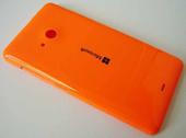 Крышка задняя (аккумулятора) Microsoft Lumia 535, оранжевая, 8003488 (оригинал)