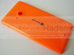 Крышка задняя (аккумулятора) Microsoft Lumia 535, оранжевая, 8003488 (оригинал), radan-osp.com - оригинальные комплектующие, фото