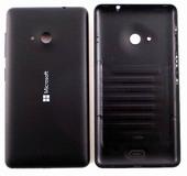 Крышка задняя (аккумулятора) Microsoft Lumia 535, черная, 8003489 (оригинал)