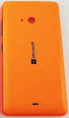 Крышка задняя аккумулятора Microsoft Lumia 540 (оранжевая), 8003566 (оригинал)
