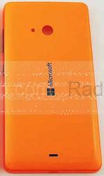 Крышка задняя аккумулятора Microsoft Lumia 540 (оранжевая), 8003566 (оригинал), radan-osp.com - оригинальные комплектующие, фото