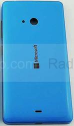 Крышка задняя аккумулятора Microsoft Lumia 540 (синяя CYAN), 8003568 (оригинал), radan-osp.com - оригинальные комплектующие, фото
