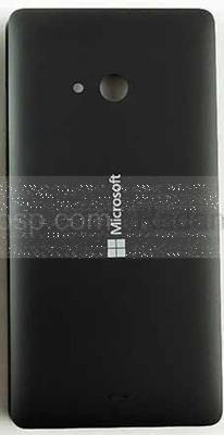 Крышка задняя аккумулятора Microsoft Lumia 540 (черная), 8003569 (оригинал)
