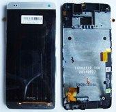Дисплей с сенсором HTC 601n One mini Silver (в сборе), 80H01596-00 (оригинал)