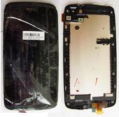 HTC Desire 500 Дисплей с сенсором и передней панелью, 80H01613-00 (оригинал)