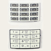 Nokia E66 Клавиатура основная белая, 9793883 (оригинал)