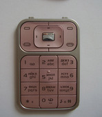 Nokia 7390 Клавиатура основная розовая, 9799551 (оригинал)