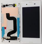Sony D2202/ D2203/ D2206 Дисплей с сенсором и передней панелью (White), A/8CS-59080-0002 (оригинал)
