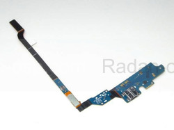 Samsung I9500 Galaxy S4 Шлейф с разъемом Micro USB и микрофоном, GH59-13075A (оригинал), radan-osp.com - оригинальные комплектующие, фото