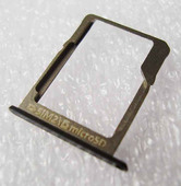 Держатель SIM и SD карт Samsung A300H/ A500H/ A700H (Black), GH61-08009B (оригинал)