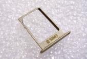 Держатель nano SIM Samsung A300H/ A500H/ A700H (Gold), GH61-08010F (оригинал)