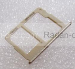 Держатель SIM и карты памяти Samsung SM-G570F Galaxy J5 Prime Gold, GH63-13393A (оригинал), radan-osp.com - оригинальные комплектующие, фото