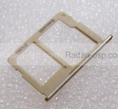 Держатель SIM и карты памяти Samsung SM-G570F Galaxy J5 Prime Gold, GH63-13393A (оригинал)