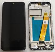Дисплей екран Samsung Galaxy A01 SM-A015 з рамкою (вузький коннектор шлейфа), GH81-18209A (сервісний оригінал)