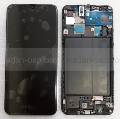 Дисплей с сенсором (экран) Samsung Galaxy A30 A305 (A305F, A305FN) Super AMOLED Black/White/Blue, GH82-19202A (оригинал)