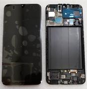 Дисплей с сенсором (экран) Samsung Galaxy A50 A505 (A505F, A505FN) Super AMOLED Black/White/Blue, GH82-19204A (оригинал)