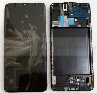 Дисплей с сенсором (экран) Samsung Galaxy A70 A705 (A705F, A705FN) Super AMOLED Black/Blue, GH82-19747A (оригинал)