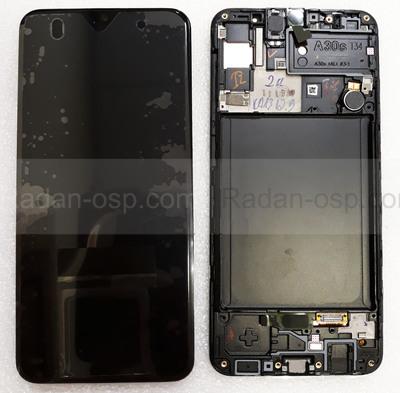 Дисплей экран Samsung Galaxy A30s A307/ A307F Black/Green/White Super AMOLED, GH82-21190A (сервисный оригинал)