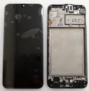 Дисплей (екран) Samsung Galaxy M30s M307 з рамкою Black Super AMOLED, GH82-21265A (сервісний оригінал)