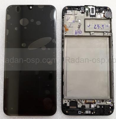 Дисплей (экран) Samsung Galaxy M30s M307 с рамкой Black Super AMOLED, GH82-21265A (сервисный оригинал)