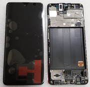 Дисплей (екран) Samsung Galaxy A51 A515 з рамкою Black Super AMOLED, GH82-21669A, GH82-21680A (сервісний оригінал)