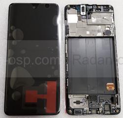 Дисплей (экран) Samsung Galaxy A51 A515 с рамкой Black Super AMOLED, GH82-21669A (сервисный оригинал), radan-osp.com - оригинальные комплектующие, фото