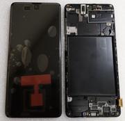 Дисплей (екран) Samsung Galaxy A71 A715 з рамкою Black Super AMOLED, GH82-22152A (сервісний оригінал)