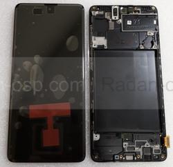 Дисплей (экран) Samsung Galaxy A71 A715 с рамкой Black Super AMOLED, GH82-22152A (сервисный оригинал), radan-osp.com - оригинальные комплектующие, фото