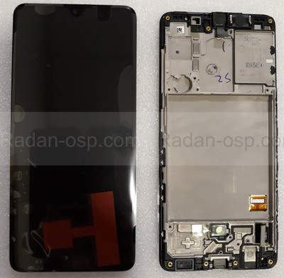 Дисплей экран Samsung Galaxy A41 A415 с рамкой Super AMOLED, GH82-22860A (сервисный оригинал)