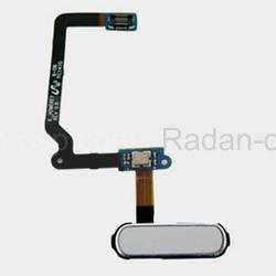 Кнопка Home (толкатель) в сборе со сканером отпечатка пальца на шлейфе (White) Samsung G900F/ G900H/ G800F/ G800H, GH96-07065A (оригинал), radan-osp.com - оригинальные комплектующие, фото