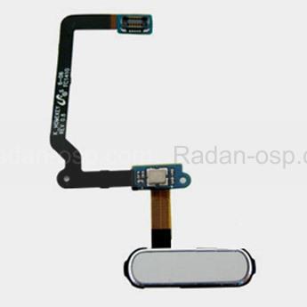 Кнопка Home (толкатель) в сборе со сканером отпечатка пальца на шлейфе (White) Samsung G900F/ G900H/ G800F/ G800H, GH96-07065A (оригинал)