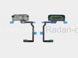 Кнопка Home (толкатель) в сборе со сканером отпечатка пальца на шлейфе (GOLD) Samsung G800F/ G800H/ G900F/ G900H/ G901, GH96-07065C (оригинал), radan-osp.com - оригинальные комплектующие, фото