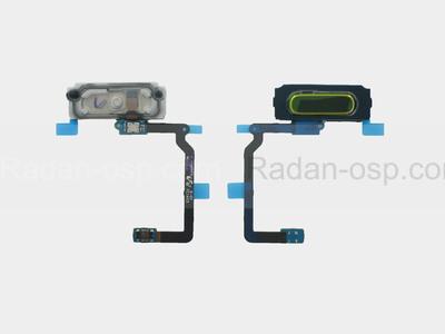 Кнопка Home (толкатель) в сборе со сканером отпечатка пальца на шлейфе (GOLD) Samsung G800F/ G800H/ G900F/ G900H/ G901, GH96-07065C (оригинал)