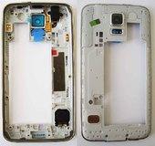 Задняя часть корпуса в сборе с полифоническим динамиком (Black) Samsung G900H/ G900F, GH96-07249B (оригинал)