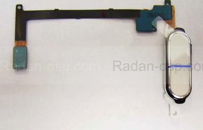 Кнопка home в сборе со шлейфом Samsung N910C/ N910H (White), GH96-07432B (оригинал)