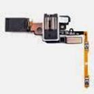 Разъем наушников Samsung G850F Galaxy Alpha 3.5мм на шлейфе с разговорным динамиком, кнопками громкости, Silver, GH96-07463A (оригинал)