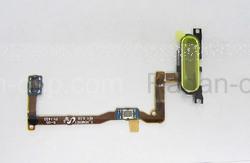 Кнопка Home (толкатель) в сборе на шлейфе (Silver) Samsung G850F Galaxy Alpha, GH96-07489E (оригинал), radan-osp.com - оригинальные комплектующие, фото