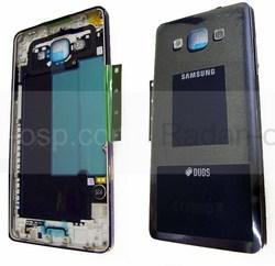 Задняя внутренняя часть корпуса Samsung A500H Galaxy A5 (Black, Silver), GH96-08181B (оригинал), radan-osp.com - оригинальные комплектующие, фото
