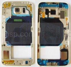 Задняя внутренняя часть корпуса Samsung Galaxy S6 Duos G920FD (Gold), GH96-08561C (оригинал), radan-osp.com - оригинальные комплектующие, фото