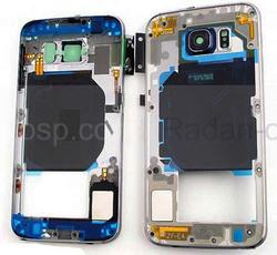 Задняя внутренняя часть корпуса Samsung G920F Galaxy S6 (Black), GH96-08583A (оригинал), radan-osp.com - оригинальные комплектующие, фото