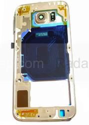 Задняя внутренняя часть корпуса Samsung G920F Galaxy S6 (Gold), GH96-08583C (оригинал), radan-osp.com - оригинальные комплектующие, фото