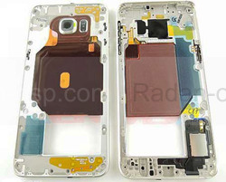 Задняя часть корпуса Samsung Galaxy S6 Edge Plus G928F (Gold) в сборе, GH96-09079A (оригинал), radan-osp.com - оригинальные комплектующие, фото