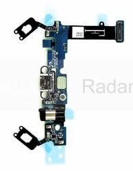 Шлейф с разъемом аудио и USB Samsung Galaxy A5 A510 Duos 2016 на плате, GH96-09381A (оригинал), radan-osp.com - оригинальные комплектующие, фото